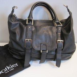 Botkier Sasha Medium Duffel Bag Black Leather